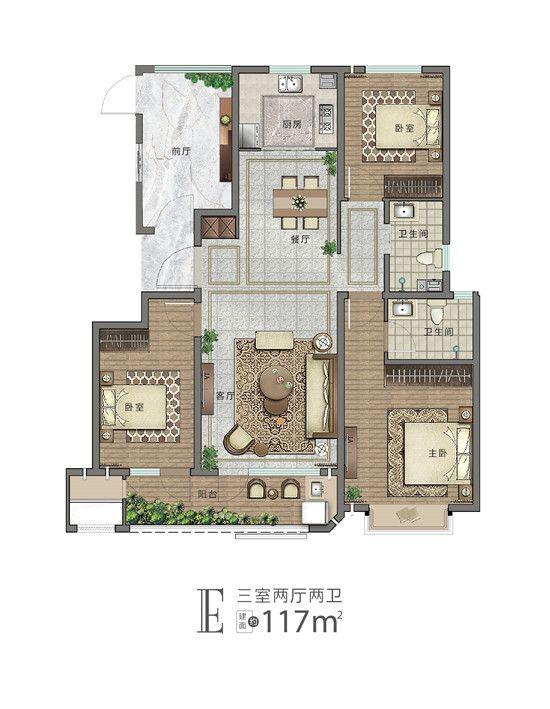 未来城·首府E户型图