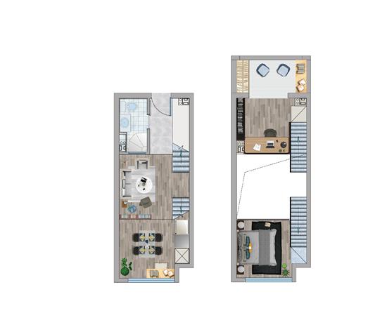 loft公寓户型图
