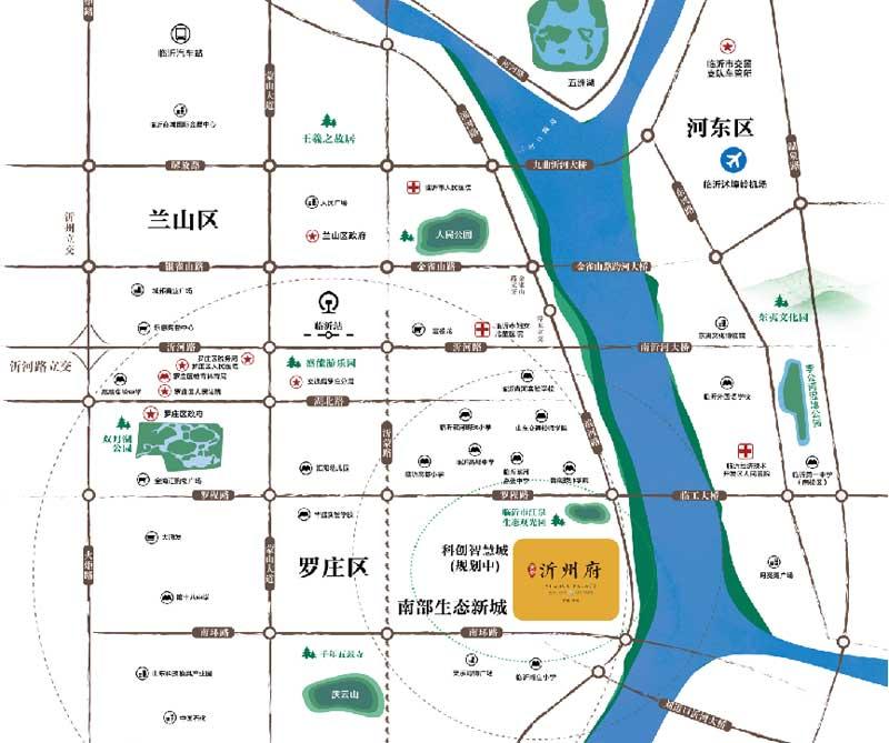 天泰沂州府 区位图