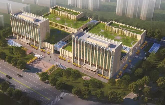 柳青河农贸城 鸟瞰效果图