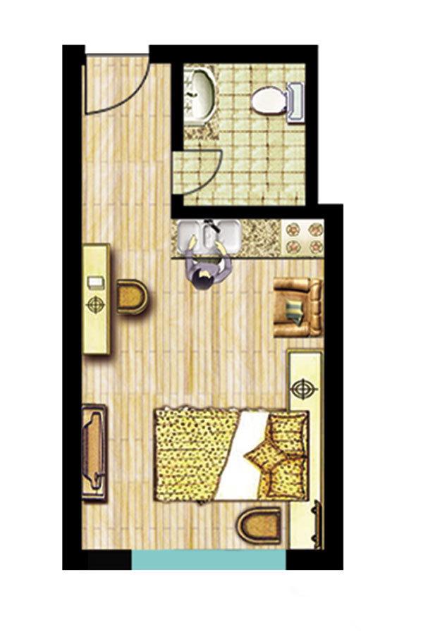 柳青河农贸城 公寓户型图