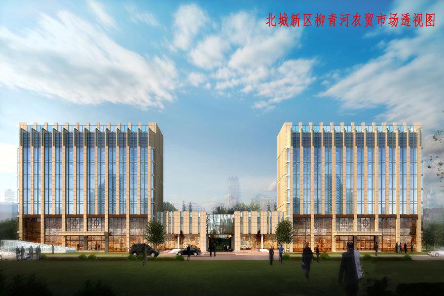 柳青河农贸城 沿街透视图