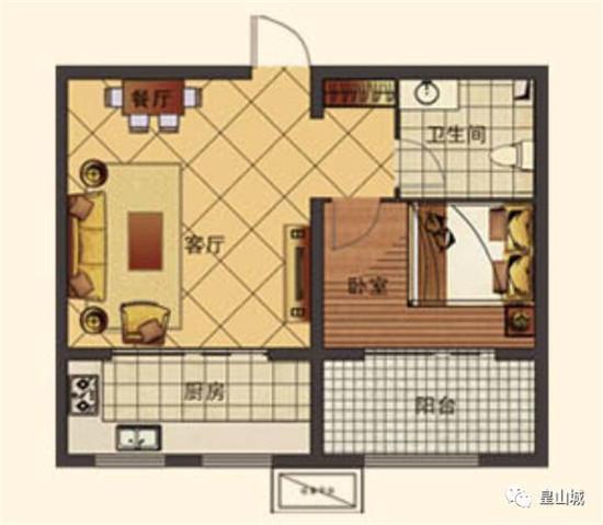 E2建筑面积约50㎡一室一厅一卫