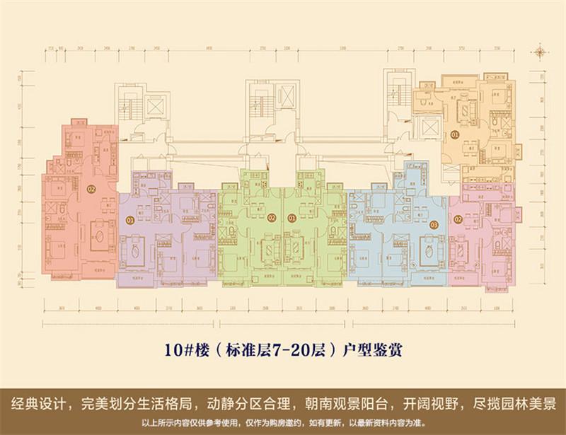 10号楼标准层平面图