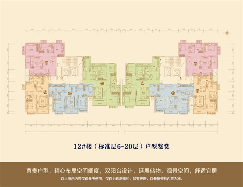 12号楼标准层平面图
