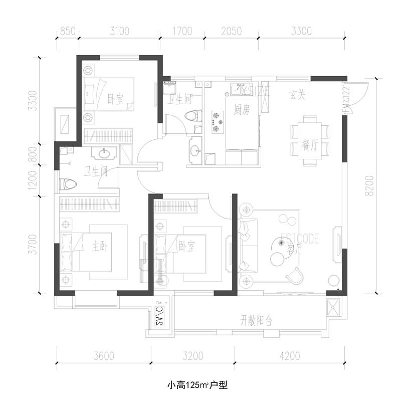泰鑫·东望府户型图