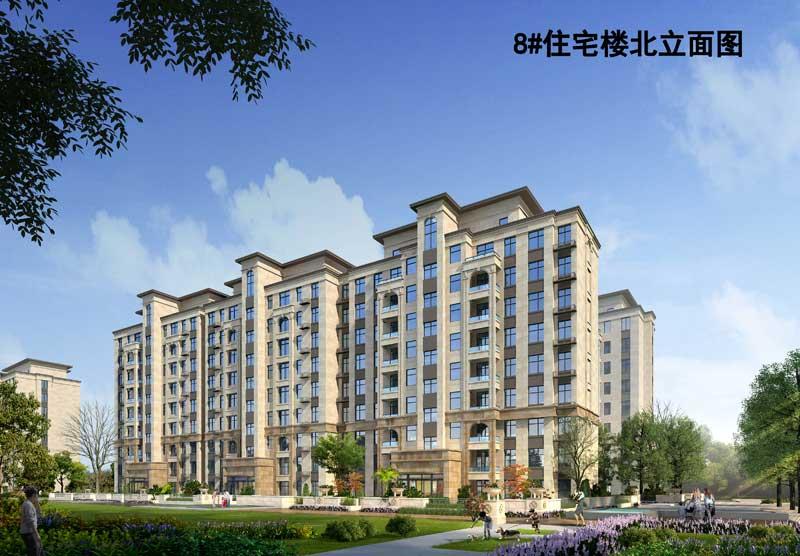 鑫星和谐嘉园 8#住宅楼北立面图