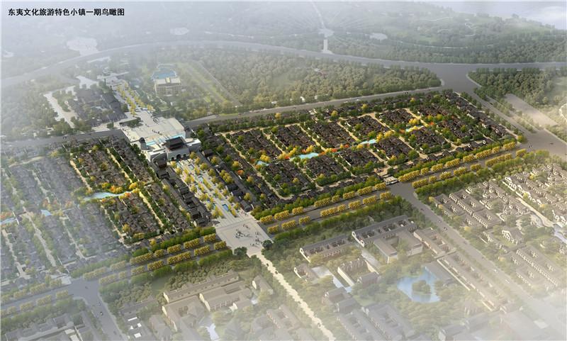 沂州古城一期北区鸟瞰效果图