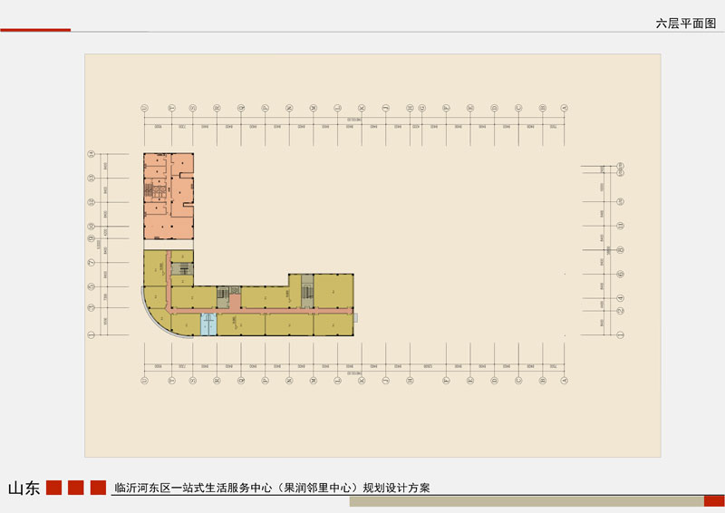 果润邻里中心 六层平面户型图