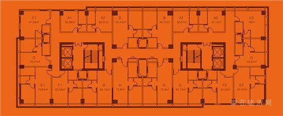返租公寓平面图