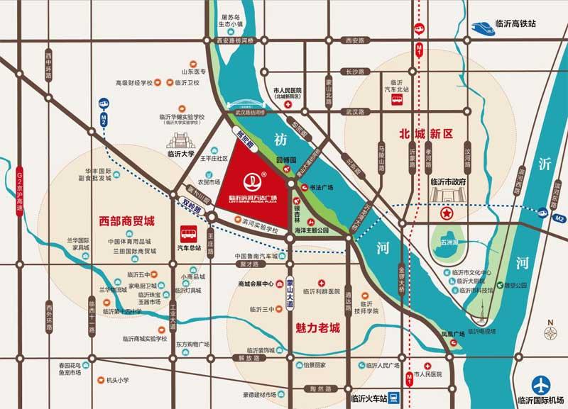 临沂滨河万达广场 区位图