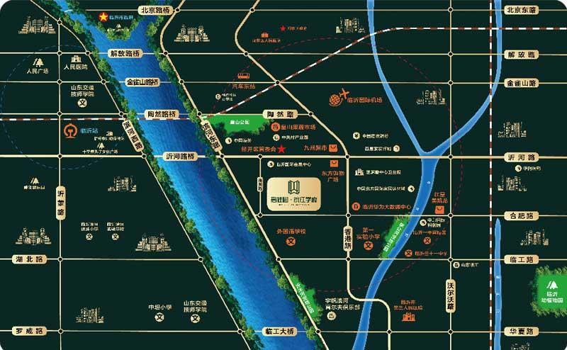 碧桂园·滨江学府 区位图
