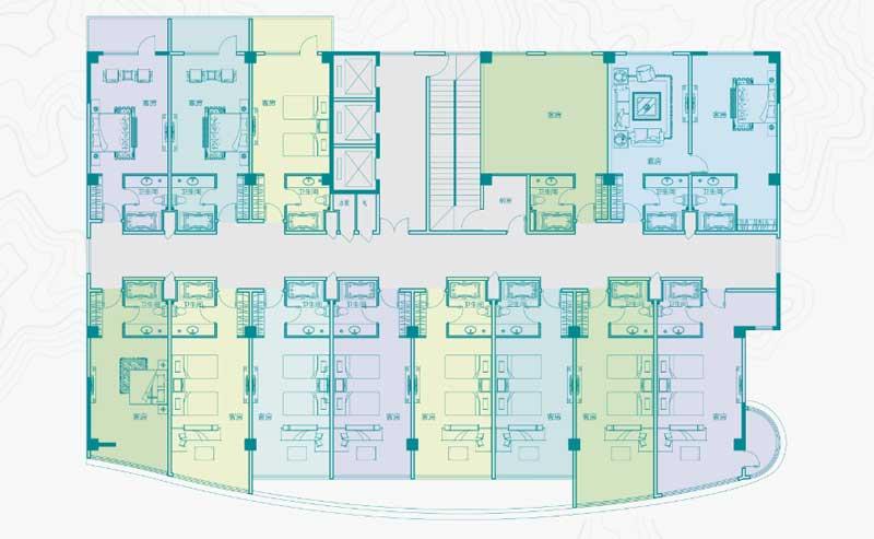 尚荣·玲珑公馆 3#楼公寓平面图
