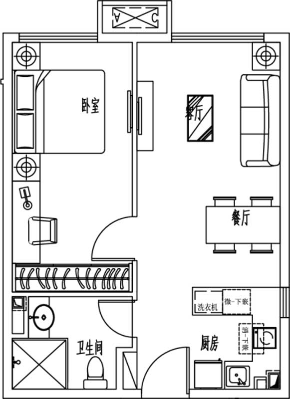 恒大中央广场 11#楼59㎡
