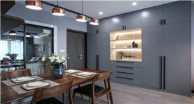 102平的现代风三房,时尚的灰色调,带来别致轻奢感